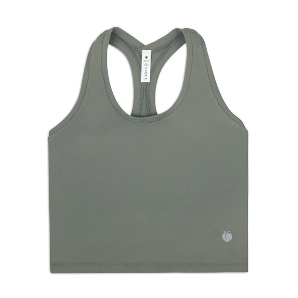 Rush Crop Tank - Green Dusk