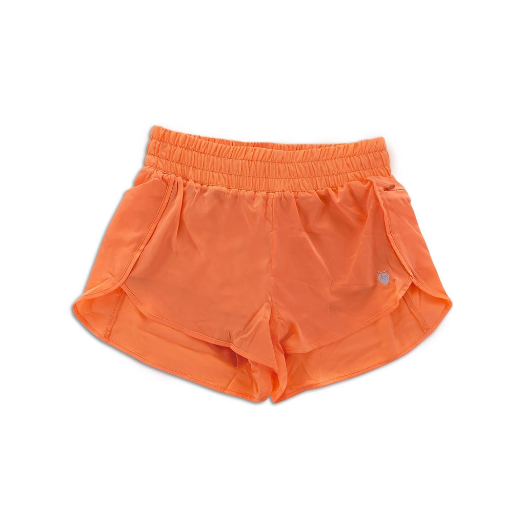 Women's Orange Track Shorts (Compression Lined)