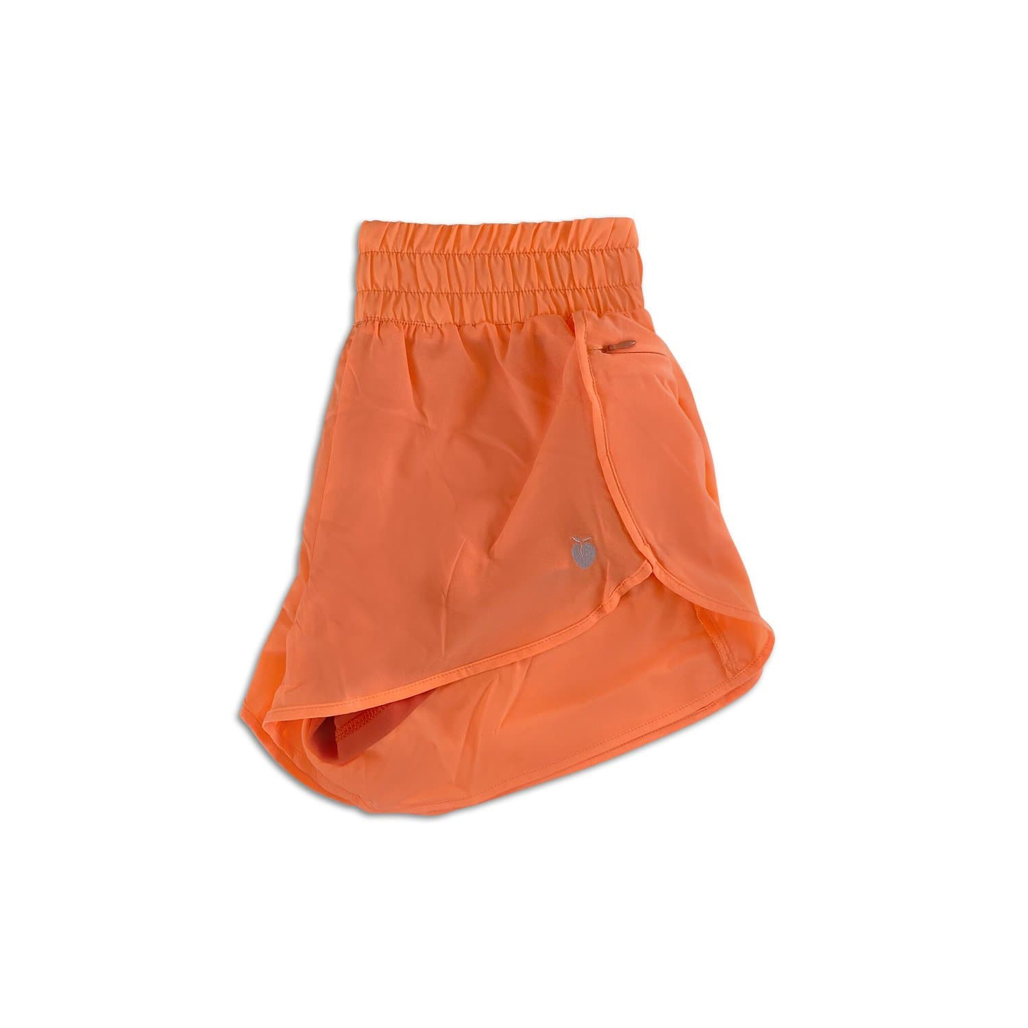 Women's Liner Track Shorts - Orange