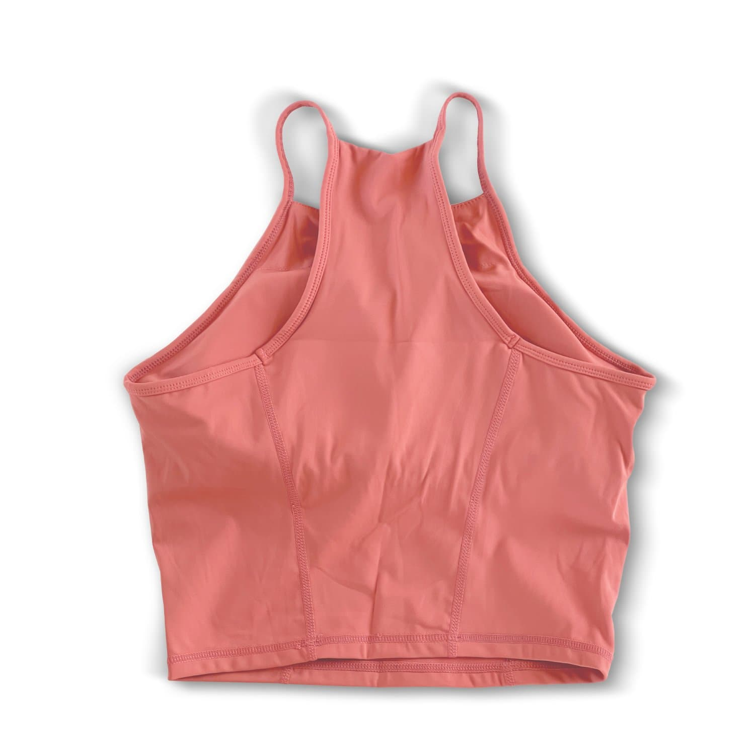 Halter Crop Tank - Peach