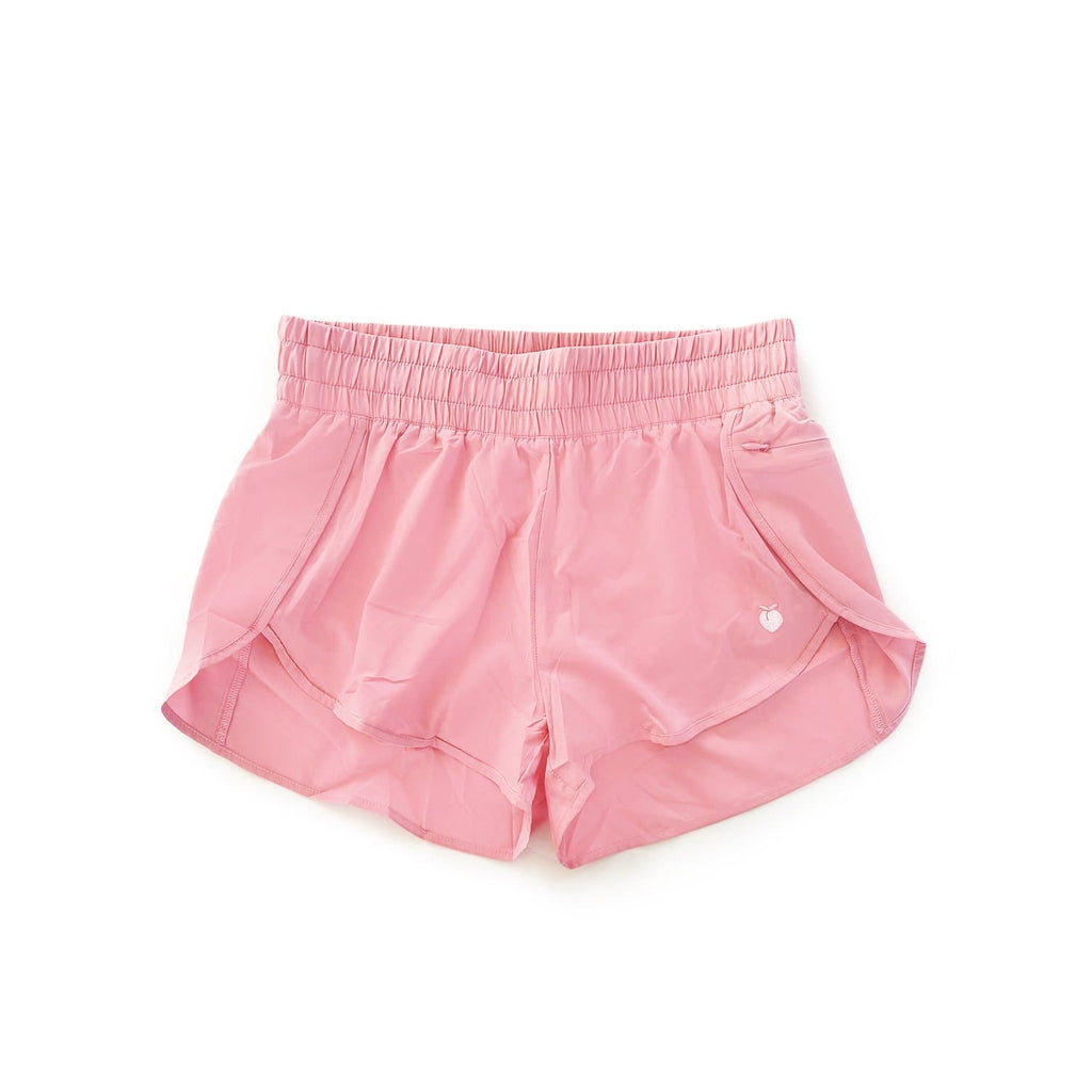Women's Liner Track Shorts - Rose