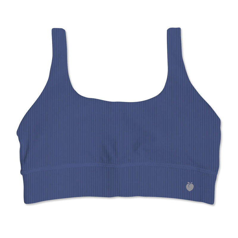 In Motion Ribbed Bra - Blueberry