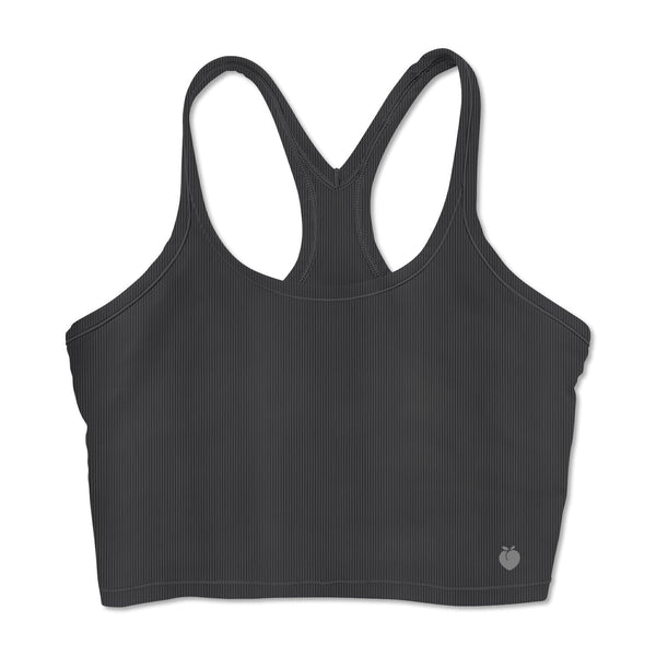 Ribbed Crop Tank - Ink Grey