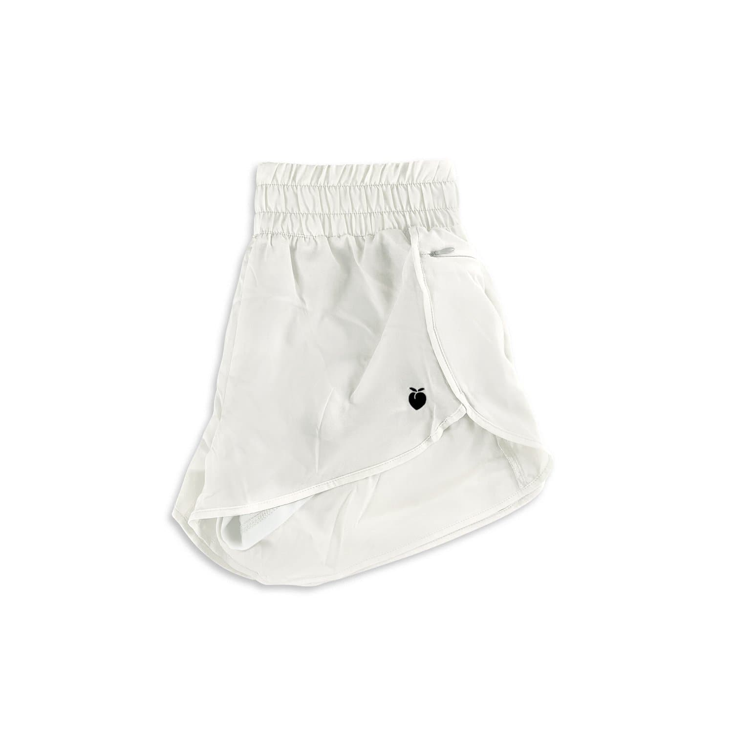 Women's Liner Track Shorts - White