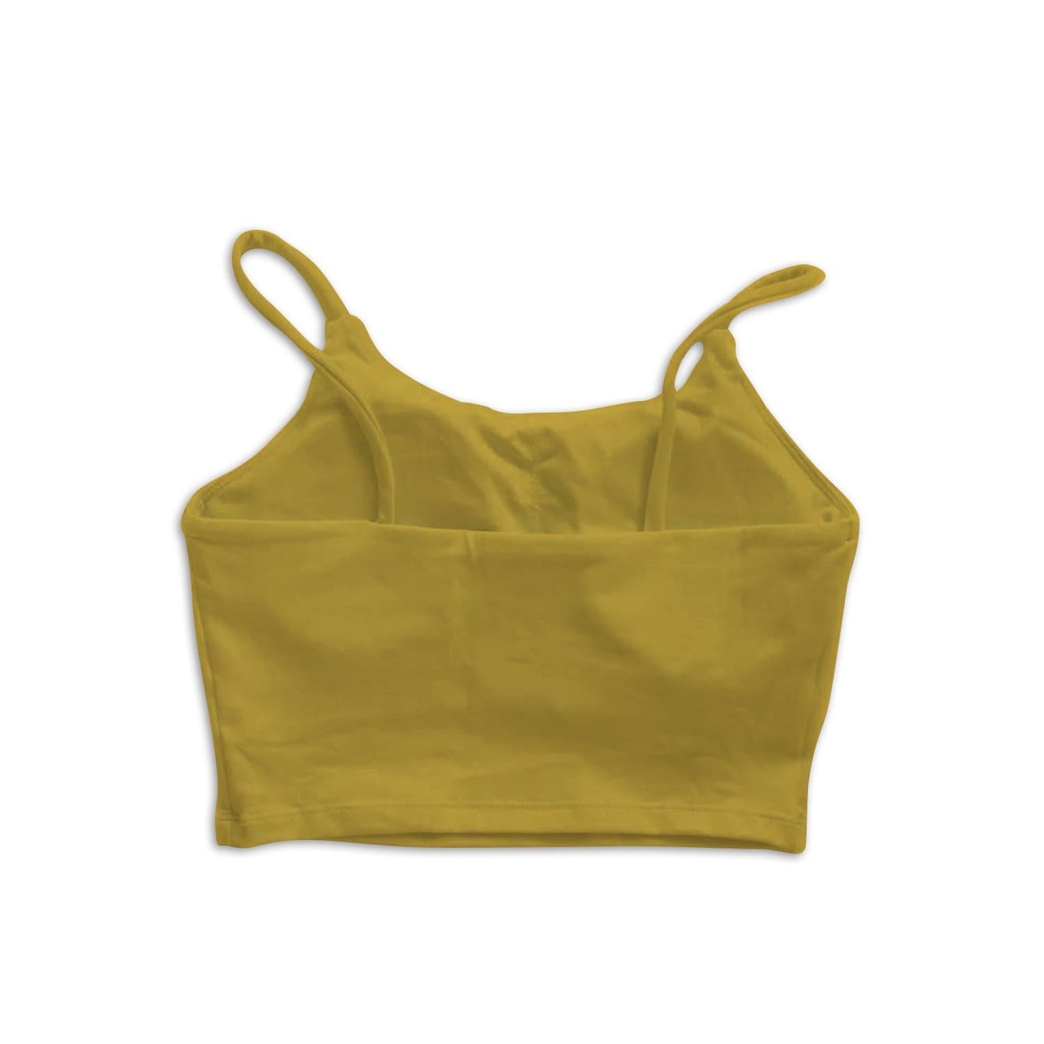 String Crop Top Bra - Chartreuse