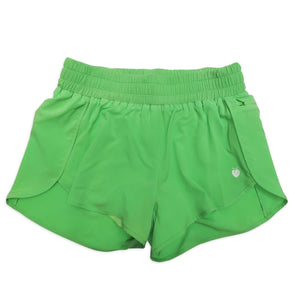 Women's Liner Track Shorts - Lime