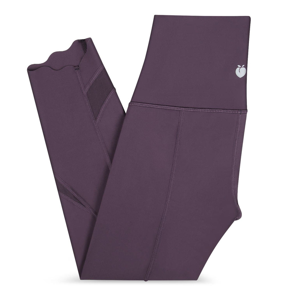 Dark Purple Trim Crop Pant