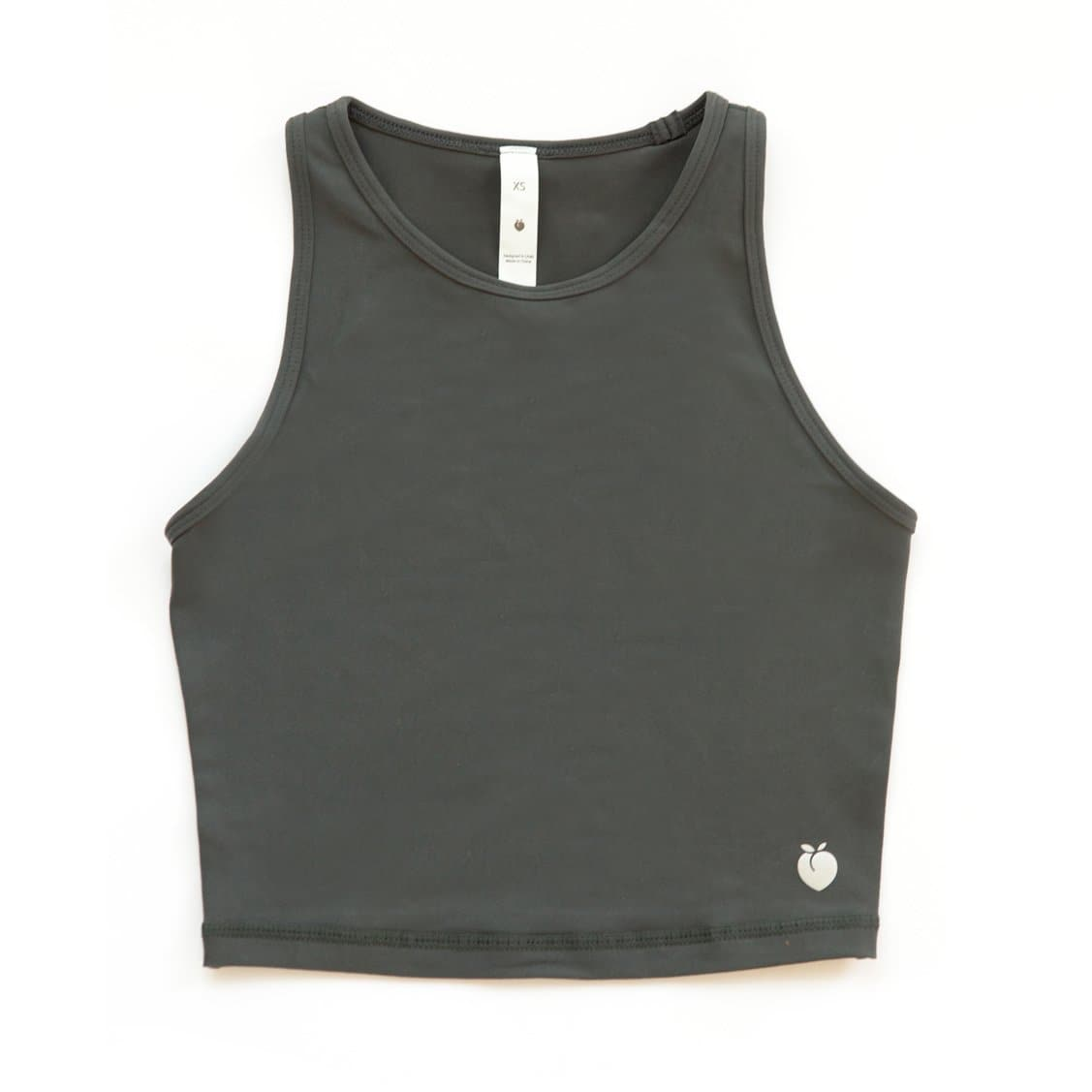 Racerback Crop Top - Charcoal