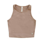 Racerback Crop Top - Sand