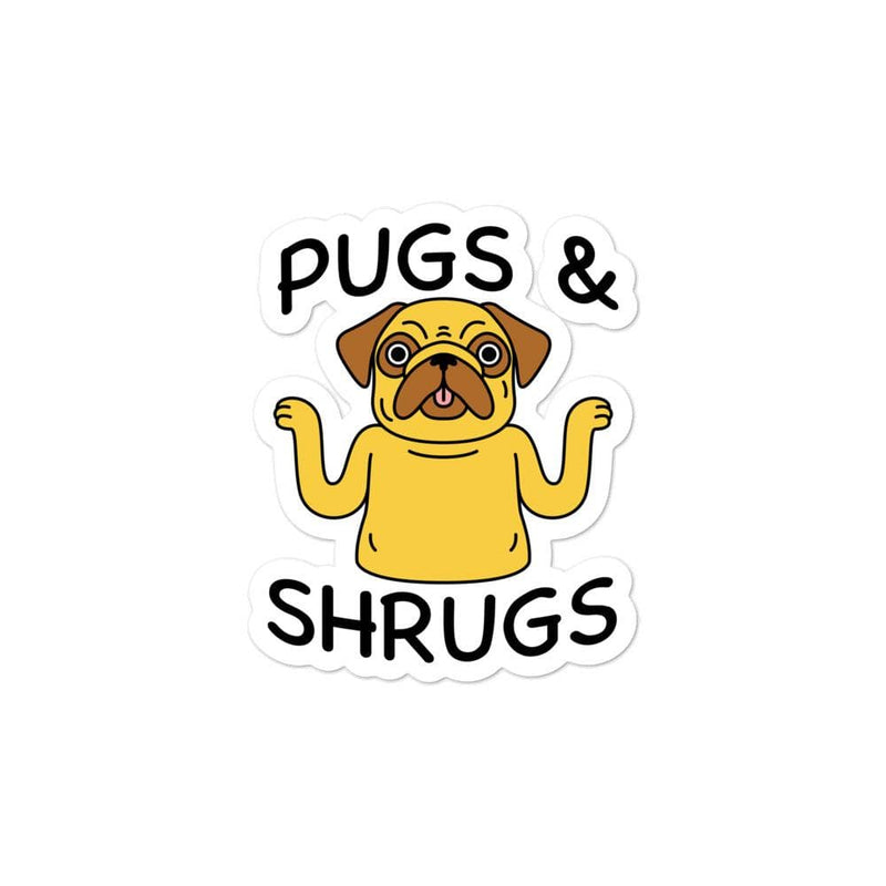 Pugs And Shrugs Stickers