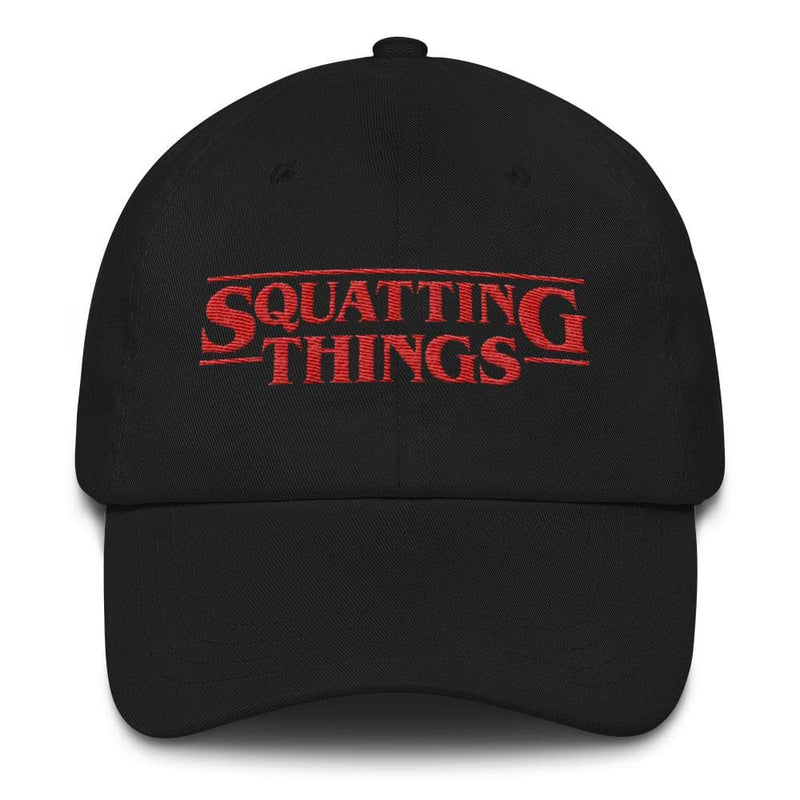 Squatting Things Dad hat