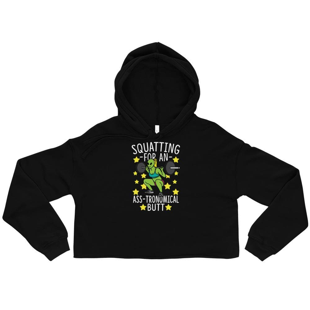 Squatting For An Ass-tronomical Butt Crop Hoodie
