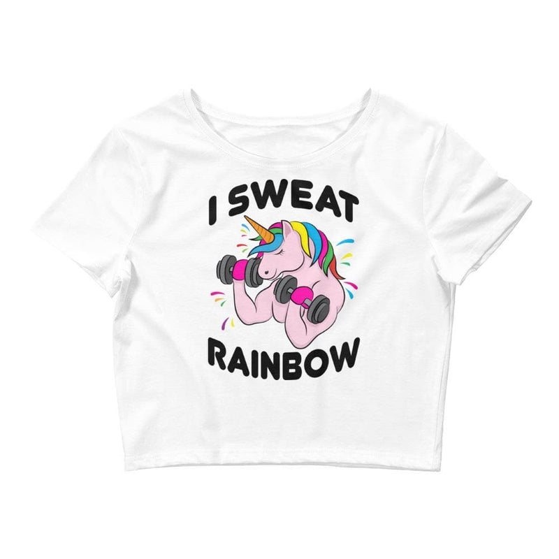 I Sweat Rainbow Crop Tee