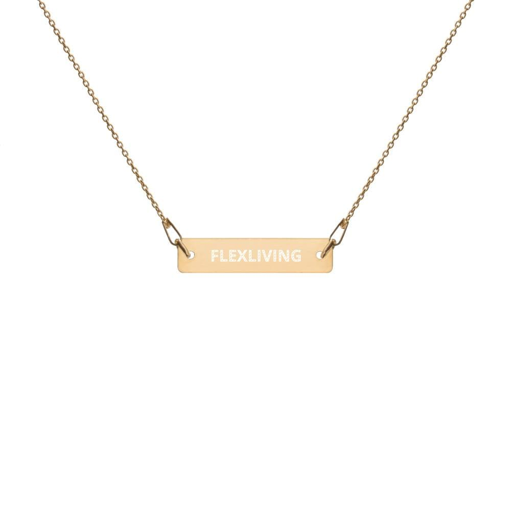 Flexliving Engraved Bar Chain Necklace
