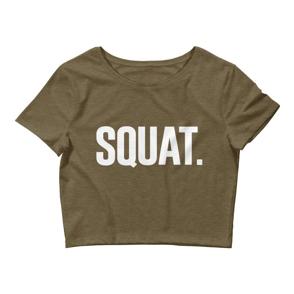 SQUAT Crop Tee- READY TO SHIP!
