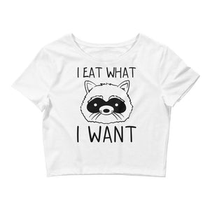 I Eat What I Want Crop Tee