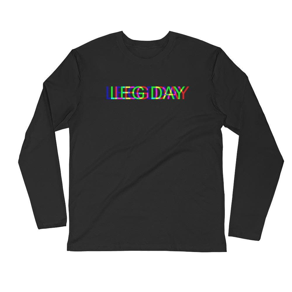 LEG DAY Glitch Men's Fitted Long Sleeve- READY TO SHIP!