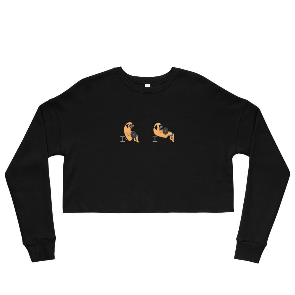 Pug Hip Thrust Crop Sweatshirt