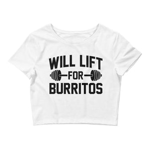 Will Lift For Burritos Crop Tee
