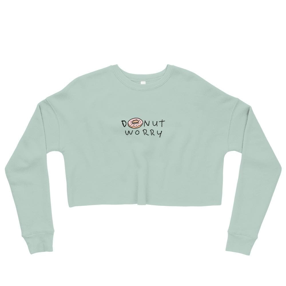 Donut Worry Crop Sweatshirt