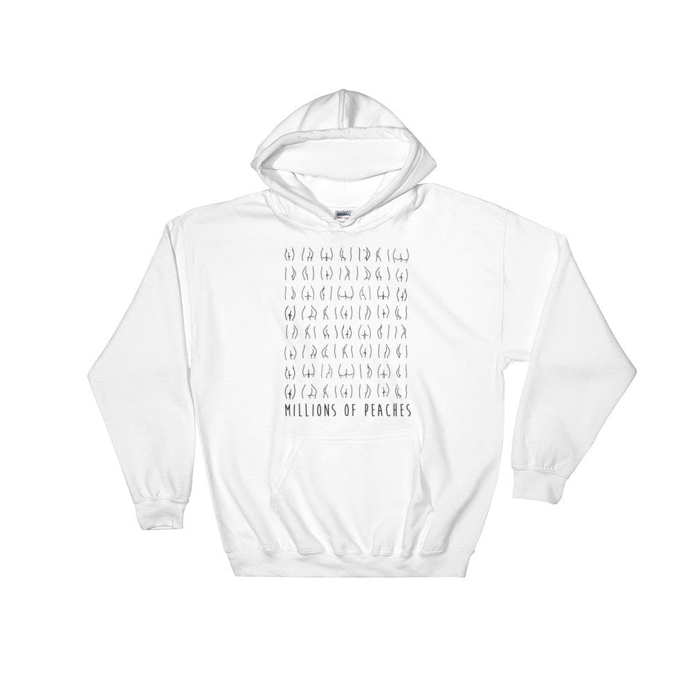 Millions Of Peaches Hoodie - Black & White
