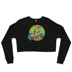 Merry Liftmas Crop Sweatshirt