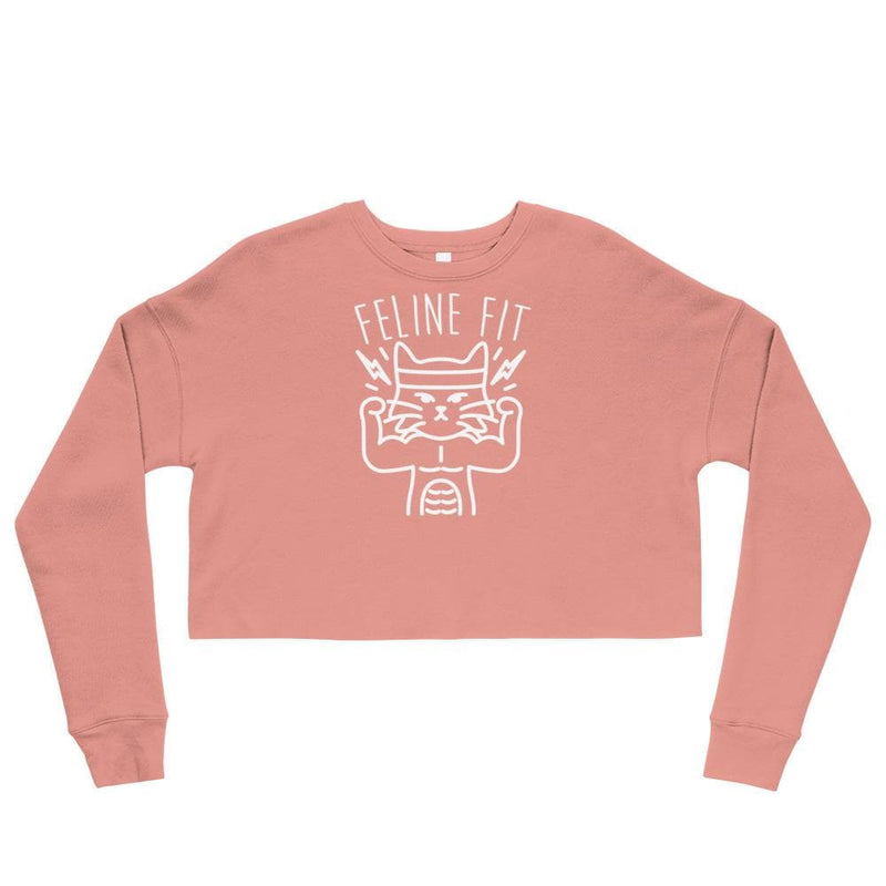 Feline Fit Crop Sweatshirt