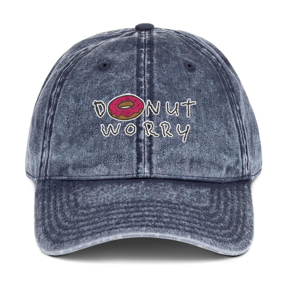 Donut Worry Vintage Cotton Twill Cap