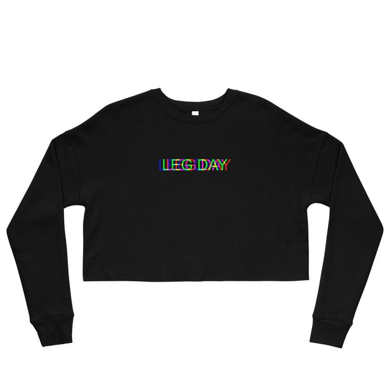 LEG DAY Glitch  Crop Sweatshirt
