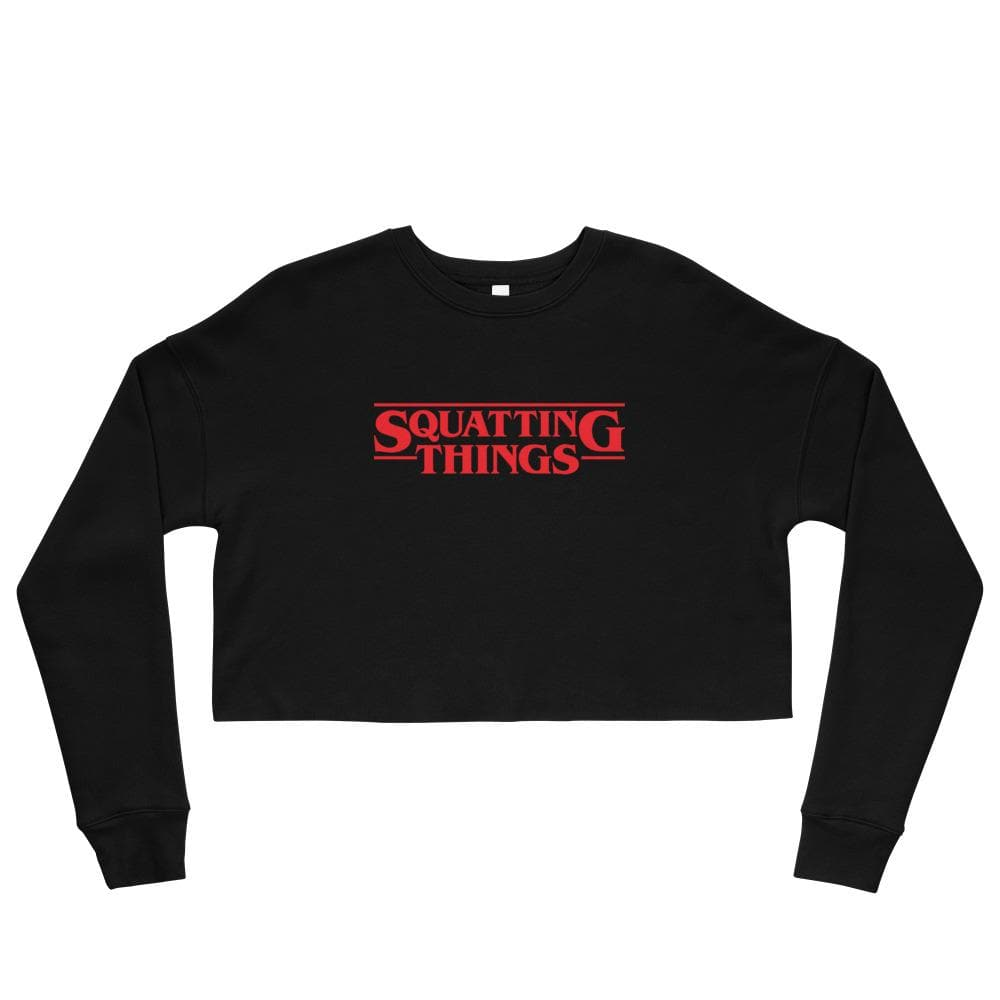 Squatting Things Crop Sweatshirt