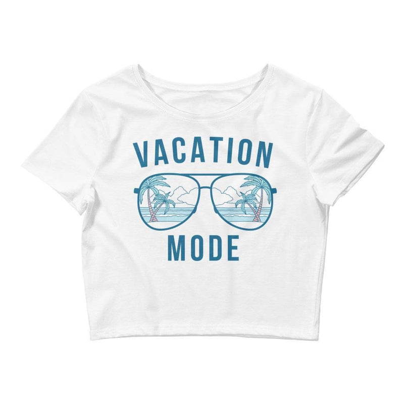 Vacation Mode Crop Tee- READY TO SHIP!