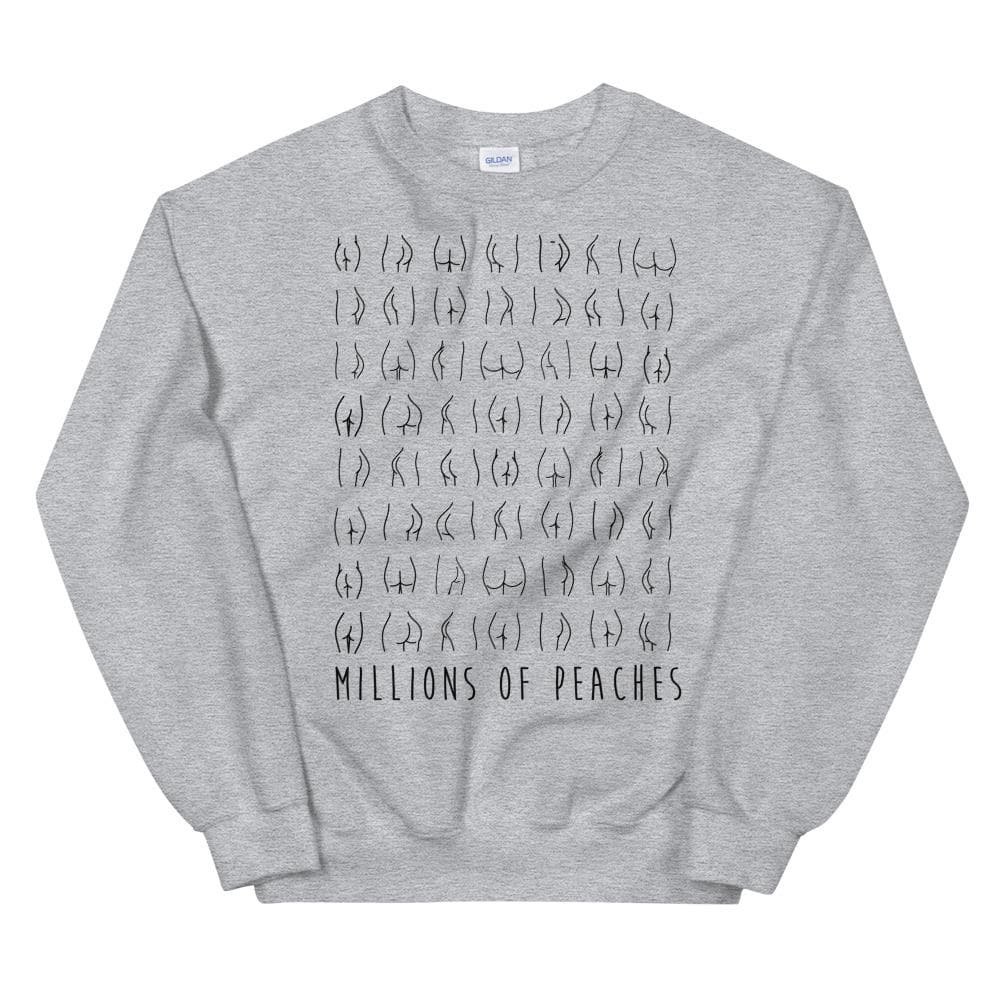 Millions Of Peaches Sweatshirt - Black & White