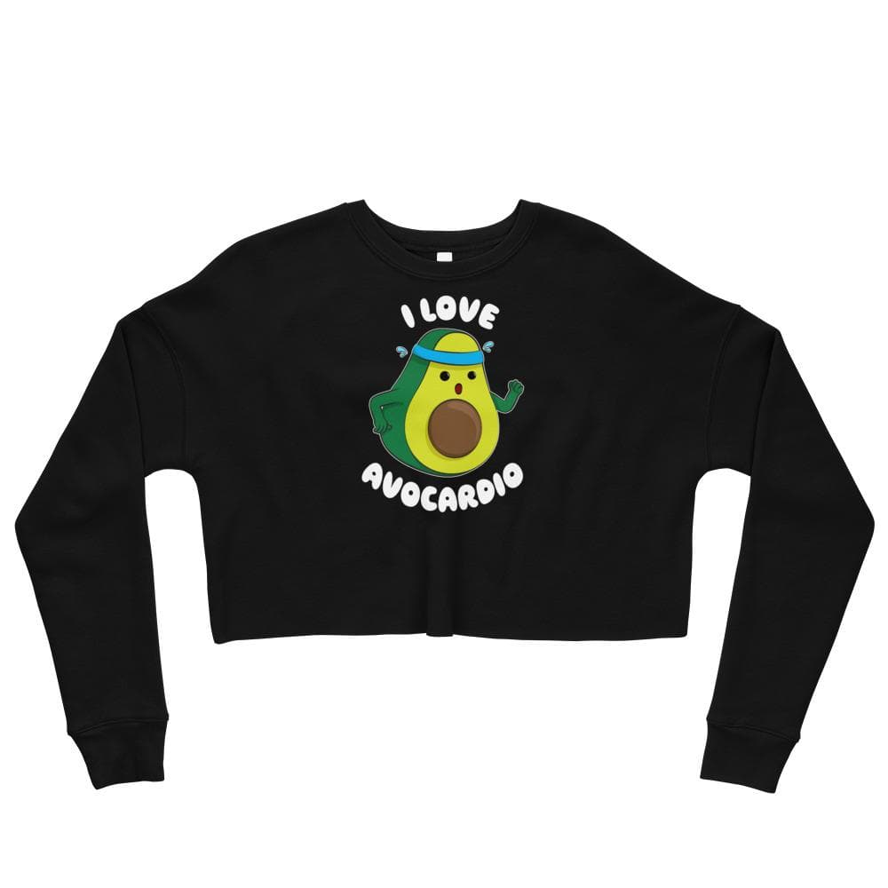 I Love Avocardio Crop Sweatshirt