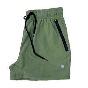 Men's Olive Active Shorts