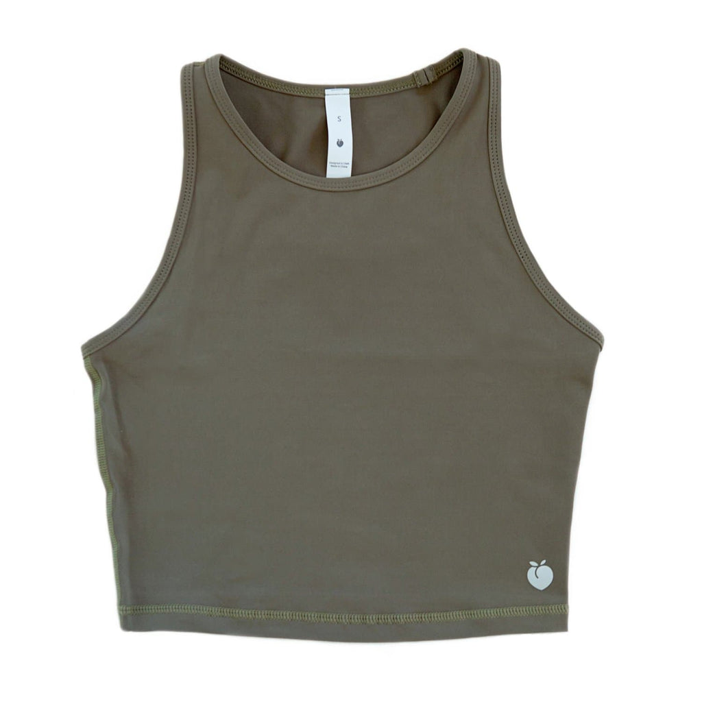 Racerback Crop Top - Olive