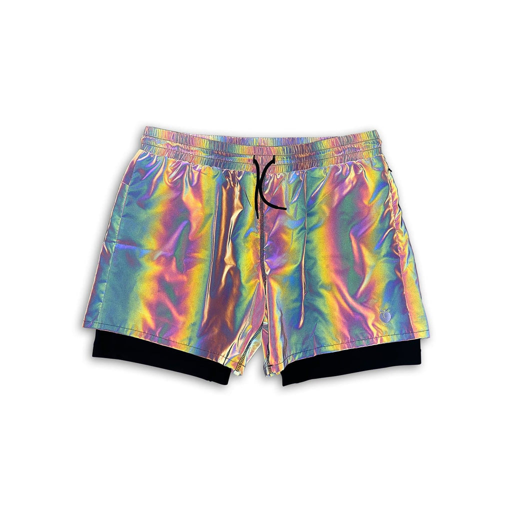 "Men's Active Liner Shorts 5"" - Rainbow REFLECTIVE"