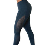 Navy Vented Seamless Leggings