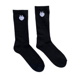 Rep The Peach Cushioned Crew Socks - Black