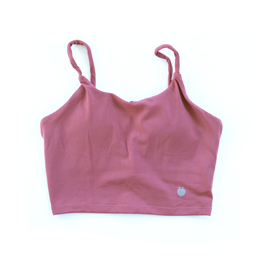 String Crop Top Bra - Boyne Red