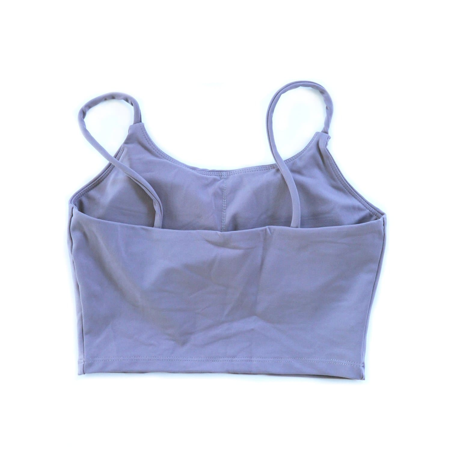 String Crop Top Bra - Dawn Gray