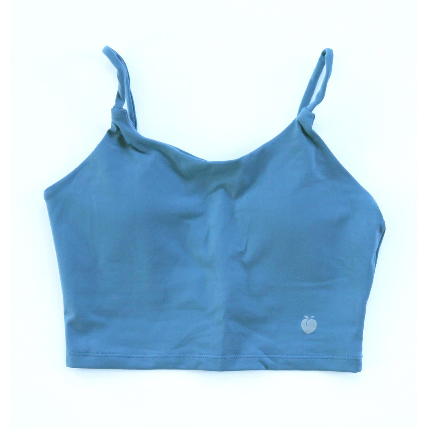 String Crop Top Bra - Slate Blue