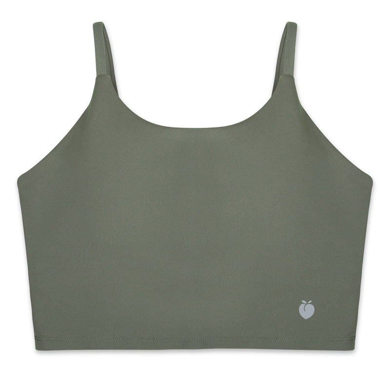 String Crop Top Bra - Army Green
