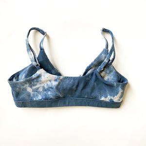 Twisty Bra - Tie Dye Ocean Blue