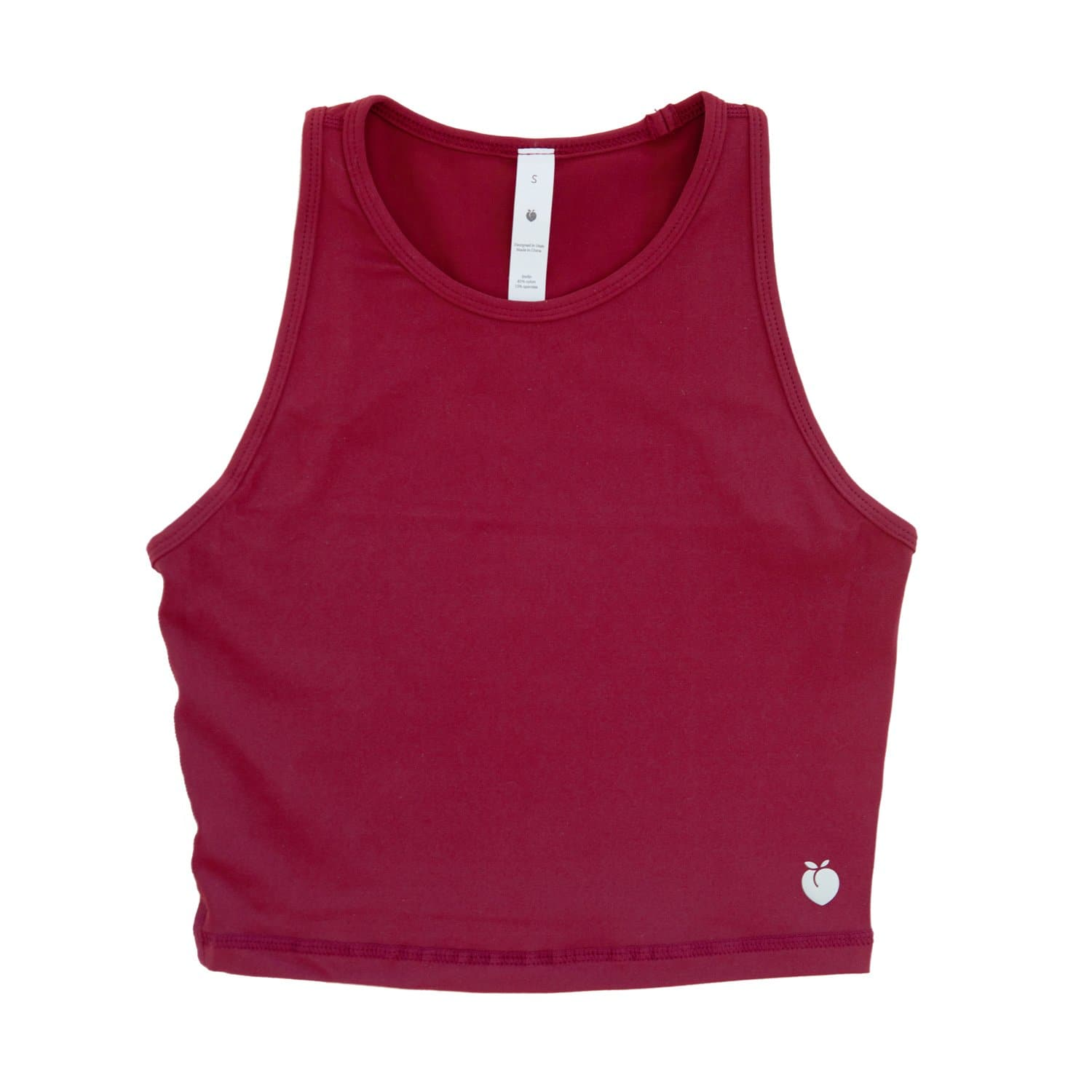 Racerback Crop Top - Wine