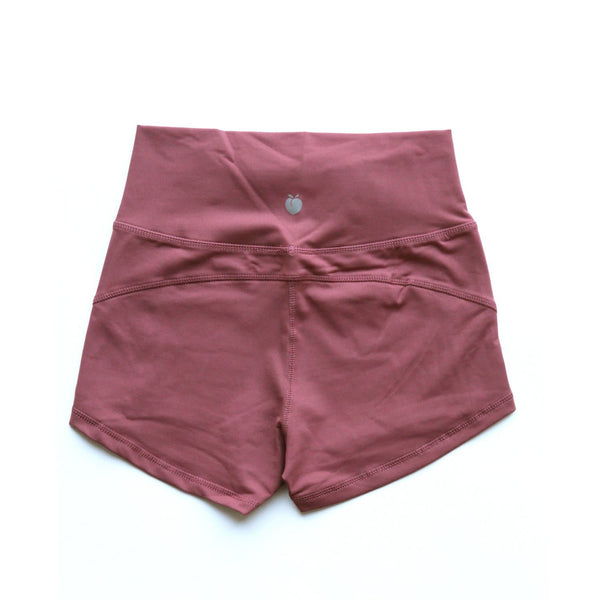 Women's Merlot Red Active Shorts
