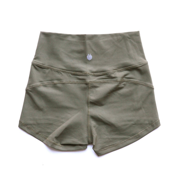 Women's Olive Active Shorts