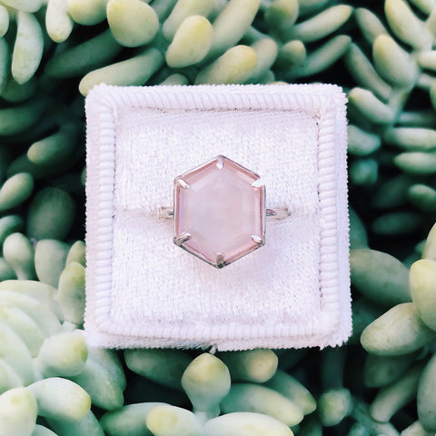Sterling Silver + Rose Quartz Malibu Ring