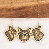 Custom Pet Portrait Necklace [As seen in the LA Times Holiday Gift Guide]