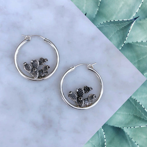 Bloomin' Cactus Earrings