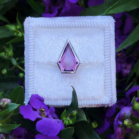 Kite Cut Amethyst Ring